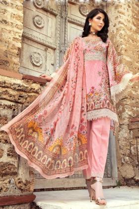 IVANA 3 Piece pink luxury lawn suit
