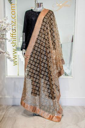 Beautiful gold net dupatta