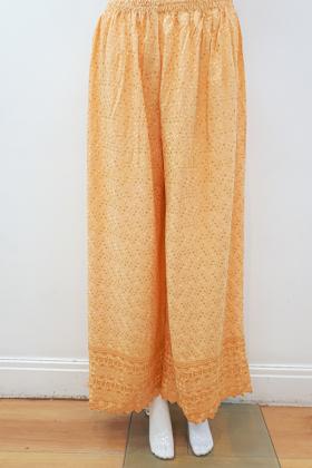 Gold chicken cotton trouser