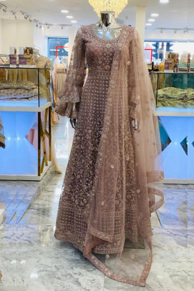 Dusy pink dori work luxury maxi dress