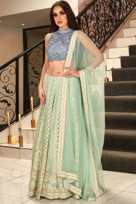 Grey luxury glamours lengha choli