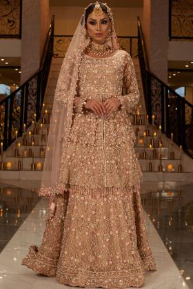 Beige Bridal Dress