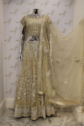 Lengha set gold partywear