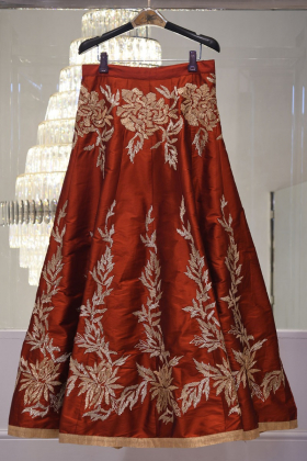 Gorgeous maroon lengha