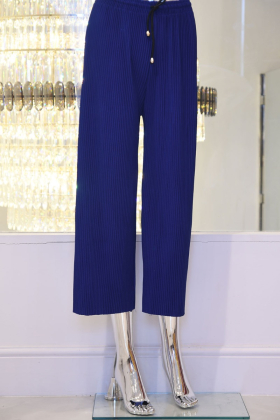 Jersey blue trousers