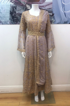 Pink heavy embroidery partywear