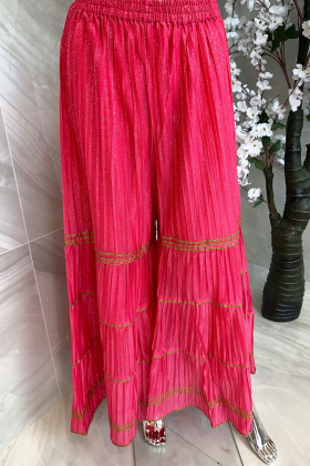 Light weight casual gharara in pink
