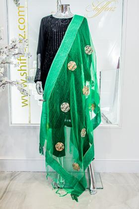 Light green tissue dupatta