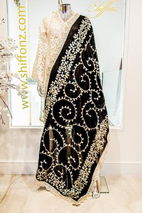 Beautiful black chiffon dupatta