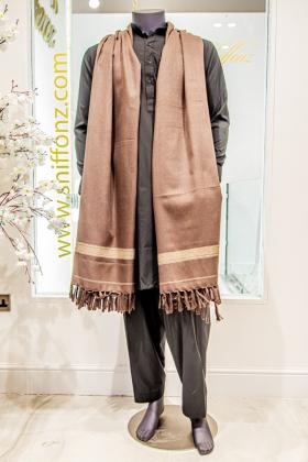 Mens shawl in dark brown