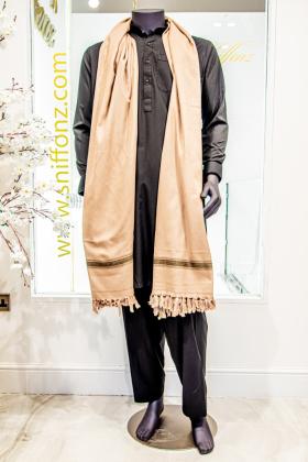 Beige mens shawl