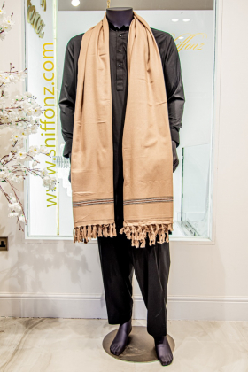 Mens beige shawl