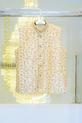 Gold mens waistcoat