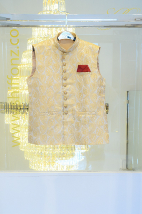 Banarsi cream waistcoat