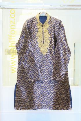 Banarsi dark blue mens suit