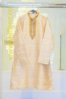 Banarsi cream mens suit