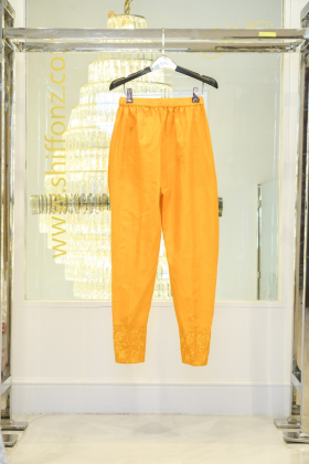 Mustard classy cotton trousers