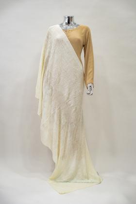 Cream beautiful shawl in wool