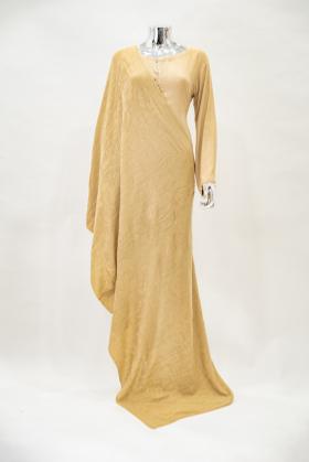 Beige beautiful shawl in wool