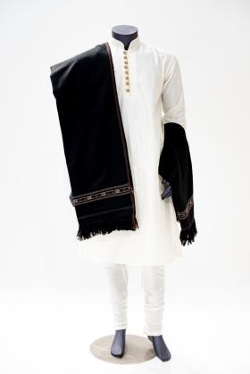 Black mens wool shawl