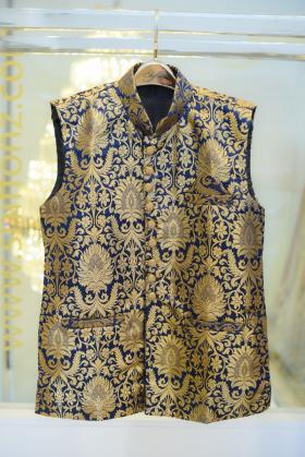 Banarsi dark blue waistcoat
