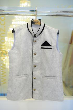Mens light grey waistcoat