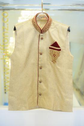 Mens cream waistcoat