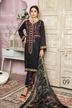 I love Simran's 3 piece linen casual suit in black