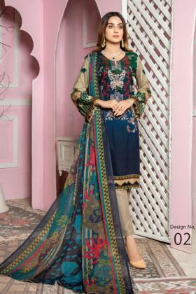 I love Simran's 3 piece linen casual suit in dark green