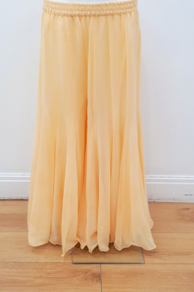 Plain yellow chiffon plazo