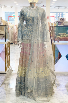 Multicoloured IVANA luxury embroidery lehnga suit