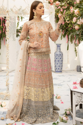 IVANA multicoloured luxury embroidery lehnga suit
