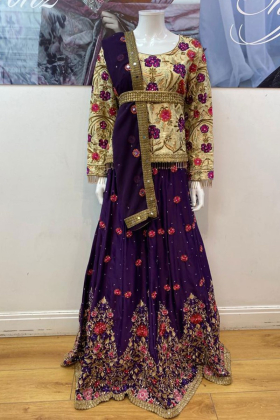 Luxury embroidery lehnga suit by IVANA
