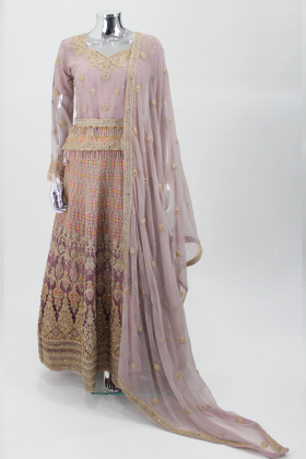 Dusy Pink luxury embroidered lengha suit by IVANA