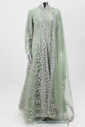 Mint luxury embroidered long gown