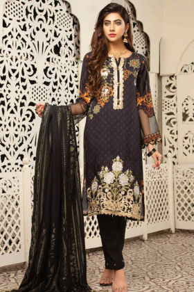 Jaan by Simrans 3 piece black linen suit