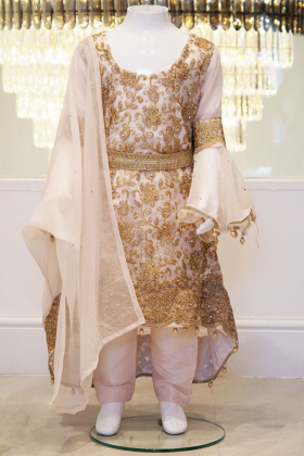 3 Piece light pink embroidered outfit