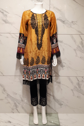 Beautiful gold printed kurta