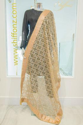 Net beautiful gold dupatta
