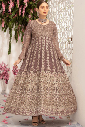 IVANA heavy embroidery long maxi suit