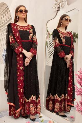Black luxury embroidered jacket style dress