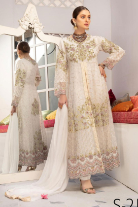 IVANA 3 piece white luxury embroidered dress