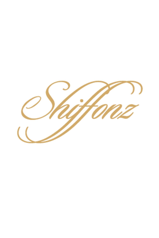Wool beige shawl with gold flower patterns