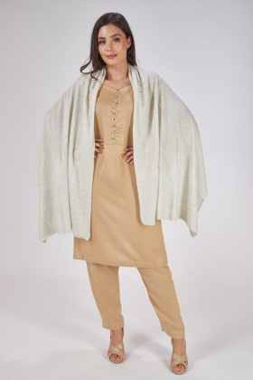 Light grey wool shawl