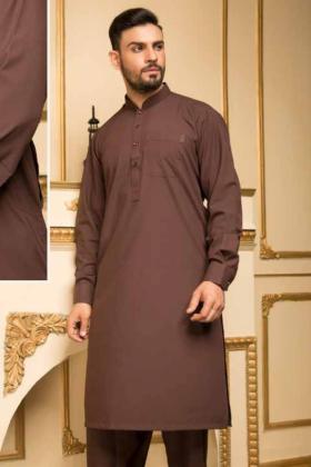 Brown mens plain shalwar kameez