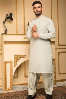 Light green mens plain shalwar kameez