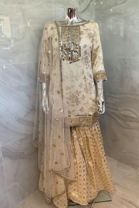 3 Piece beautiful embroidered garara suit
