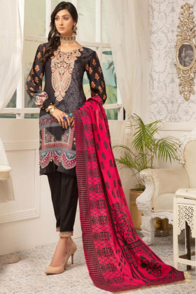 Rozana 3 piece black luxury linen suit