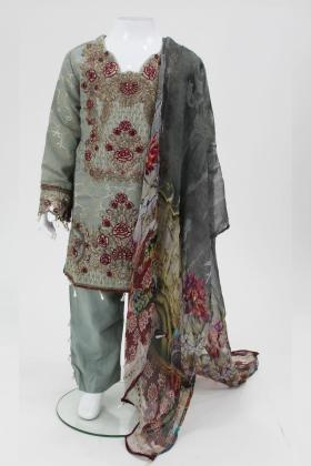 Sea green 3 piece girls suit by muskari