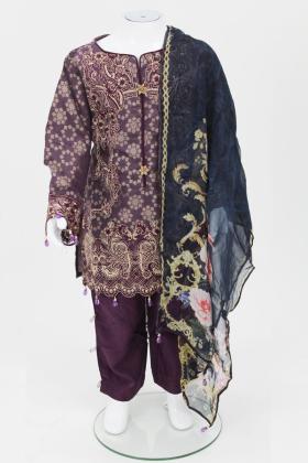 Plum 3 piece girls suit by muskari